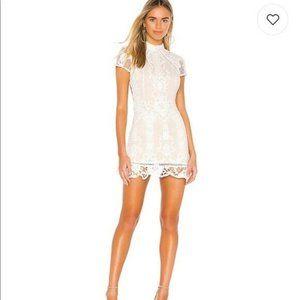 SuperDown Brianna Open Back Dress In White Size Sm